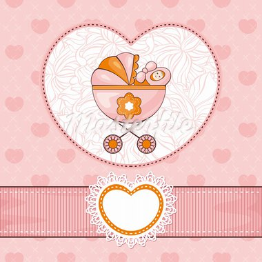abstract lovely cute baby card vector illustration Stock Photo - Royalty-Free, Artist: SelenaMay                     , Code: 400-05706299