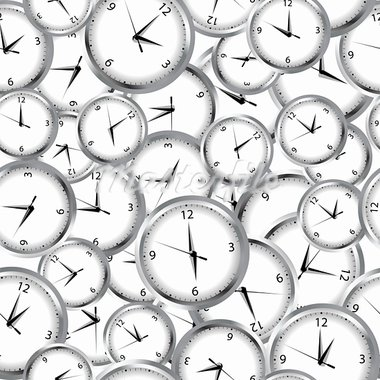 Seamless pattern with clocks and time Stock Photo - Royalty-Free, Artist: hibrida13                     , Code: 400-05706412