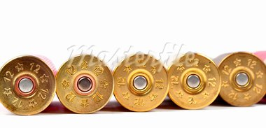 12 gauge shtogun shells used for hunting Stock Photo - Royalty-Free, Artist: ruigsantos                    , Code: 400-05706426
