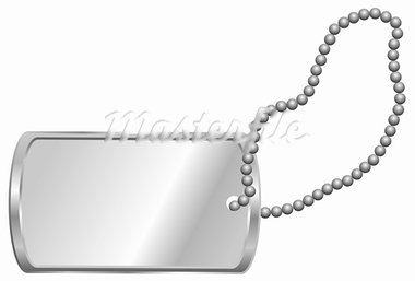 Shiny Blank Metallic Identification Plate - Dog Tag Isolated on White Stock Photo - Royalty-Free, Artist: jamdesign                     , Code: 400-05706433