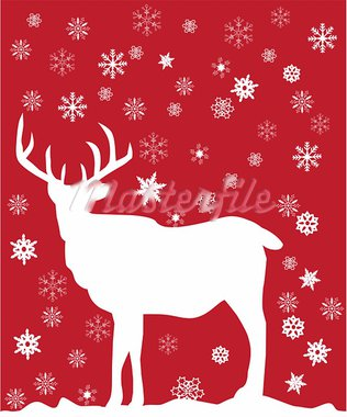 vector illustration of a reindeer Stock Photo - Royalty-Free, Artist: lilac                         , Code: 400-05706607
