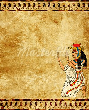 Wall with Egyptian goddess image - Isis Stock Photo - Royalty-Free, Artist: frenta                        , Code: 400-05706874