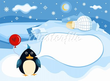 vector illustration of a north pole background Stock Photo - Royalty-Free, Artist: nem4a                         , Code: 400-05707649