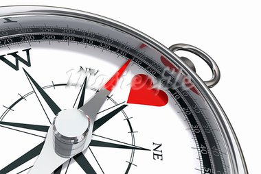 how to find love conceptual image with compass and red heart Stock Photo - Royalty-Free, Artist: donskarpo                     , Code: 400-05708241