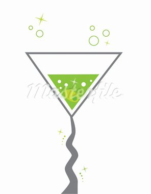 Green alcohol martini cocktail drink Stock Photo - Royalty-Free, Artist: keeweegirl                    , Code: 400-05709191