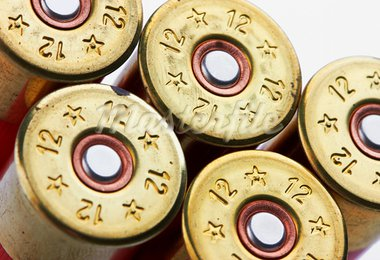 shotgun shells on white background Stock Photo - Royalty-Free, Artist: krasyuk                       , Code: 400-05709233