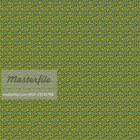 green tail of peocock seamless pattern Stock Photo - Royalty-Free, Artist: motionkarma                   , Code: 400-05710768
