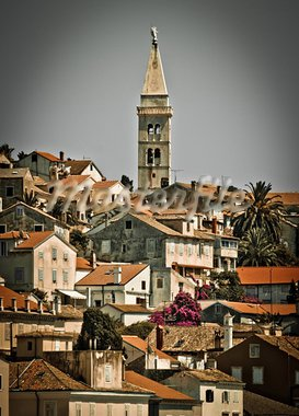 Beautiful town of Mali Losinj, Croatia - vertical view Stock Photo - Royalty-Free, Artist: xbrchx                        , Code: 400-05711677