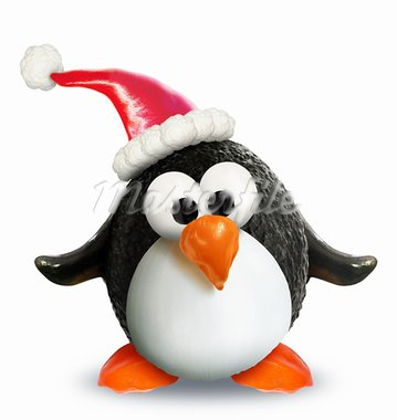 A Christmas penguin made entirely of vegetables and fruit. Stock Photo - Royalty-Free, Artist: komodoempire                  , Code: 400-05713047