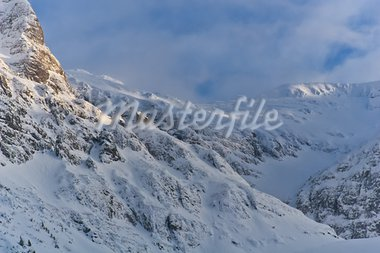 blizzard on the mountain and sky with clouds Stock Photo - Royalty-Free, Artist: porojnicu                     , Code: 400-05713151