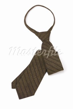 Brown stripped neck tie on white background Stock Photo - Royalty-Free, Artist: Design56                      , Code: 400-05713566