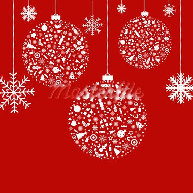 3 Stylized Balls, On Red Background, Vector Illustration Stock Photo - Royalty-Free, Artist: adamson                       , Code: 400-05714031