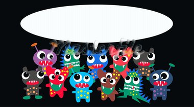 monsters with a message Stock Photo - Royalty-Free, Artist: chip                          , Code: 400-05714397