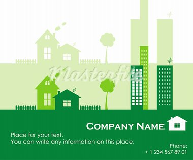 Green town, real estate for sale. Vector Illustration. Stock Photo - Royalty-Free, Artist: VeterDraw                     , Code: 400-05714805