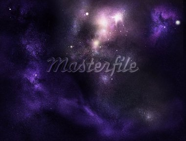 Digital created starfield with cosmic Nebula Stock Photo - Royalty-Free, Artist: Koljambus                     , Code: 400-05715412