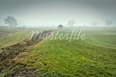 An image of a beautiful landscape with fog in bavaria germany Stock Photo - Royalty-Free, Artist: magann                        , Code: 400-05715505