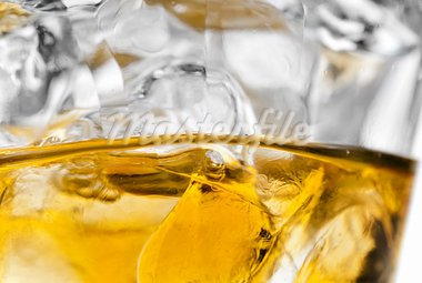 Whiskey with ice cubes macro Stock Photo - Royalty-Free, Artist: gorgev                        , Code: 400-05715905