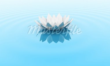 Illustration of a flower of a lily on water Stock Photo - Royalty-Free, Artist: FotoVika                      , Code: 400-05715937