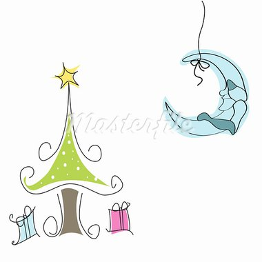 Merry Christmas Stock Photo - Royalty-Free, Artist: lemony                        , Code: 400-05716553