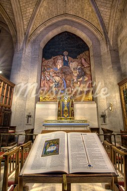 The Bible and the Crucifix Altar at Grace Cathedal in San Francisco Stock Photo - Royalty-Free, Artist: jpldesigns                    , Code: 400-05717779