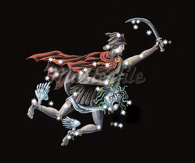 Constellation The Hero, rescuer of Andromeda (Perseus) Stock Photo - Royalty-Free, Artist: Palych                        , Code: 400-05717879