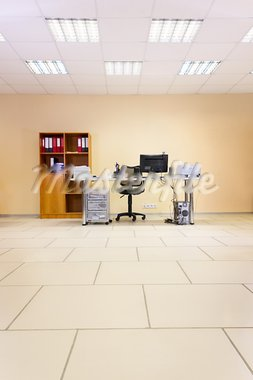 Empty office working place with computer, web camera and space for your text Stock Photo - Royalty-Free, Artist: zakazpc                       , Code: 400-05717887