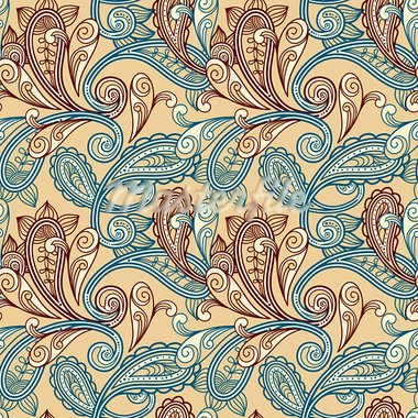 vector seamless paisley background Stock Photo - Royalty-Free, Artist: alexmakarova                  , Code: 400-05718019