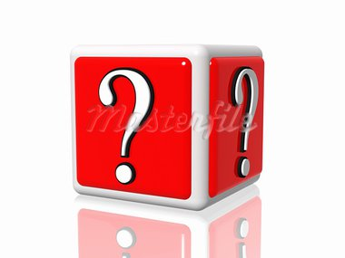 3d white red box with question mark Stock Photo - Royalty-Free, Artist: marinini                      , Code: 400-05719656