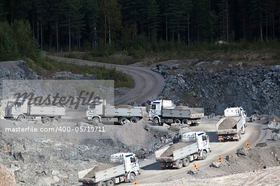 Group of Land Vehicles at a Construction Site Stock Photo - Royalty-Free, Artist: gemenacom                     , Code: 400-05719711