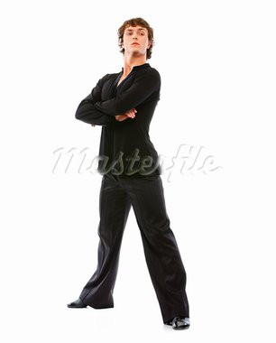 Handsome latino dancer in action isolated on white   Stock Photo - Royalty-Free, Artist: citalliance                   , Code: 400-05720154