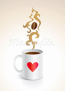 Illustration mug with hot coffee Stock Photo - Royalty-Free, Artist: serazetdinov                  , Code: 400-05720756