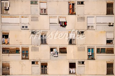 Pictured in capital of Mintenegro, one of buildings from communism time Stock Photo - Royalty-Free, Artist: Sevaljevic                    , Code: 400-05721368