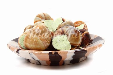 tasty fresh snails as french gourmet food Stock Photo - Royalty-Free, Artist: jonnysek                      , Code: 400-05721558
