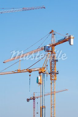 Construction cranes on the building site Stock Photo - Royalty-Free, Artist: Suljo                         , Code: 400-05721870