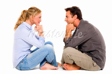 couple sitting face to face Stock Photo - Royalty-Free, Artist: ambro                         , Code: 400-05722918