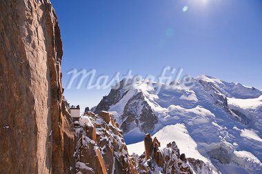 Massif Mont-Blanc, Aiguille du Midi. France. 3842 meters above sea level. Stock Photo - Royalty-Free, Artist: VitalyRomanovich              , Code: 400-05723348