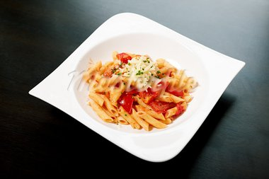 Pasta with tomato sauce and herbs Stock Photo - Royalty-Free, Artist: mtoome                        , Code: 400-05724015