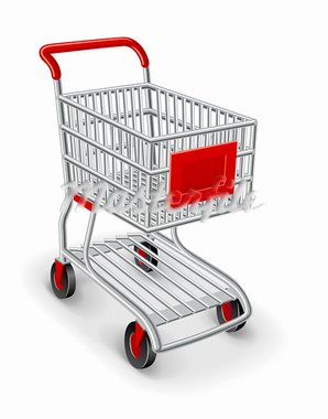 empty shopping cart vector illustration isolated on white background Stock Photo - Royalty-Free, Artist: LoopAll                       , Code: 400-05724184
