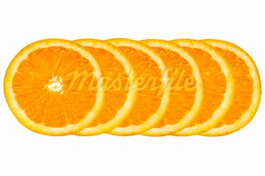 a pile of orange slices on a white background Stock Photo - Royalty-Free, Artist: nito                          , Code: 400-05724210