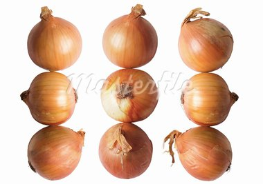 close up of golden onions on white Stock Photo - Royalty-Free, Artist: zkruger                       , Code: 400-05724695
