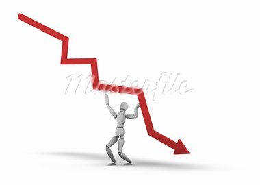 Person Lifting Line Graph 3D Stock Photo - Royalty-Free, Artist: eyeidea                       , Code: 400-05725759