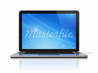 3D laptop computer isolated on white with 2 clipping path : one for global scene and one for the screen Stock Photo - Royalty-Free, Artist: daboost                       , Code: 400-05727850