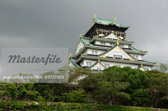 The Osaka Castle. One of Japans most famous castles Stock Photo - Royalty-Free, Artist: Arrxxx                        , Code: 400-05727955