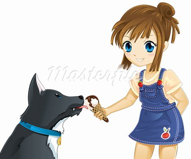 Child and dog best friends Stock Photo - Royalty-Free, Artist: zu1u                          , Code: 400-05728166