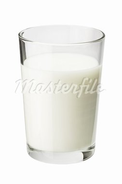 Glass of milk isolated on white Stock Photo - Royalty-Free, Artist: donatas1205                   , Code: 400-05728622