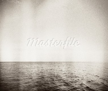 Designed retro photo. Abstract seascape. Grain, dust added as vintage effect. Stock Photo - Royalty-Free, Artist: donatas1205                   , Code: 400-05728653