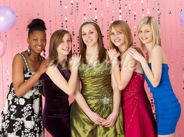Group Of Teenage Friends Dressed For Prom Stock Photo - Royalty-Free, Artist: MonkeyBusinessImages          , Code: 400-05729063