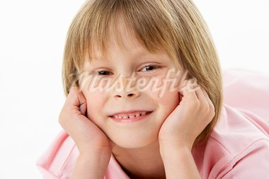 Studio Portrait of Smiling Boy Stock Photo - Royalty-Free, Artist: MonkeyBusinessImages          , Code: 400-05729657