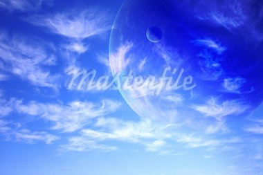 Collage - sky in alien planet Stock Photo - Royalty-Free, Artist: frenta                        , Code: 400-05730059