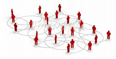 High resolution 3D illustration of people linked to a network.   Stock Photo - Royalty-Free, Artist: eyeidea                       , Code: 400-05730342